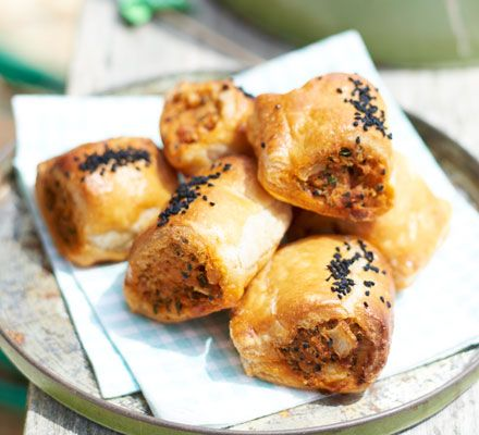We've given the classic sausage roll a makeover by using spicy chorizo in the filling. Perfectly portable picnic treats!