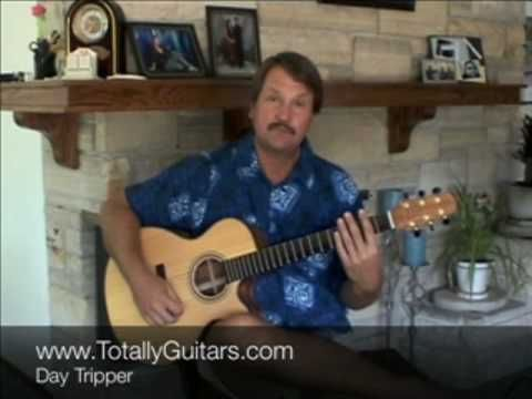 ▶ The Beatles - Day Tripper (guitar lesson) - www.TotallyGuitars.com - To inform, empower, and entertain – Totally Guitars is a free resource for guitarists that are interested in expanding their musical abilities. It is the largest source of free video guitar lessons available on the Internet.