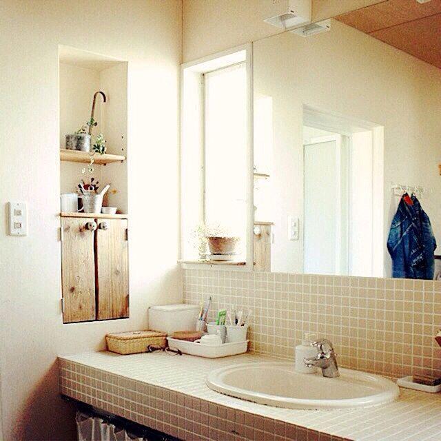 洗面所に関するインテリア実例まとめ | RoomClip (ルームクリップ) 洗面所 565のインテリア実例