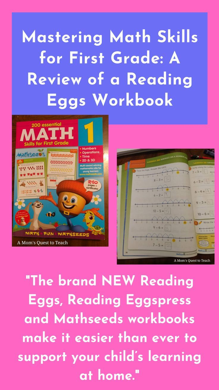 Mastering Math Skills For First Grade A Review Of A Reading Eggs Workbook Mastering Math Math Workbook Homeschool Math