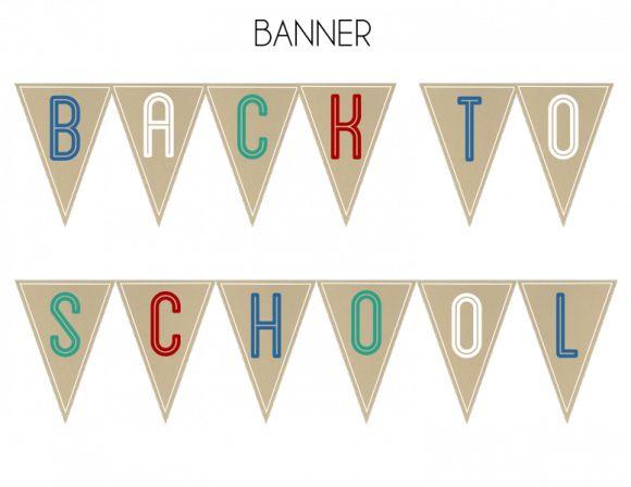Free back to school banner! #freeprintables #backtoschool
