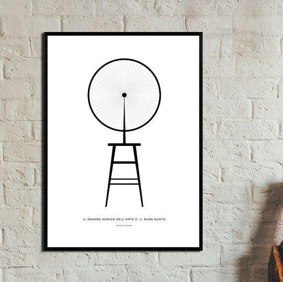 Roue de bicyclette Poster. Instant Download. Wall di 3dimensioni