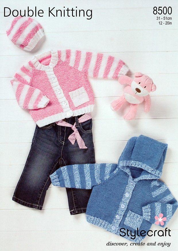 Cardigans & Hat in Stylecraft Special Baby DK (8500)