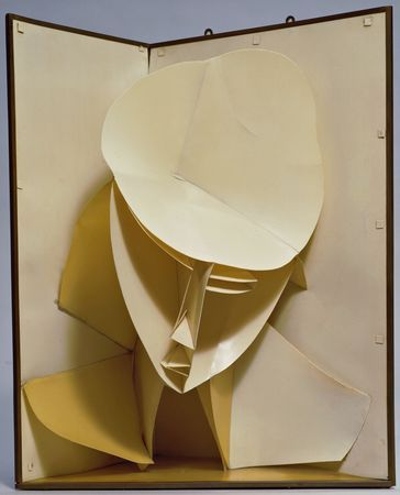 """Head of Woman"" (c. 1920), by Naum Gabo MoMA"