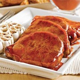 Côtelettes de porc érable et ail