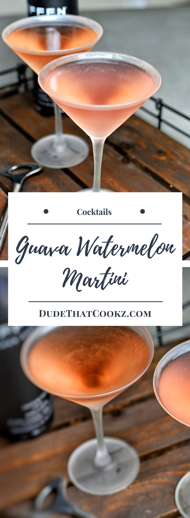 The weekend calls for cocktails and this martini will kick things off nicely. #martini #cocktails #cocktailrecipe #guava #watermelon