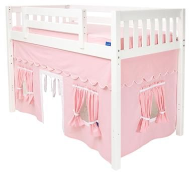 Twin Beds With Privacy Curtains | Childrens Playhouse Curtain For Mid Loft  Beds Make A Candy