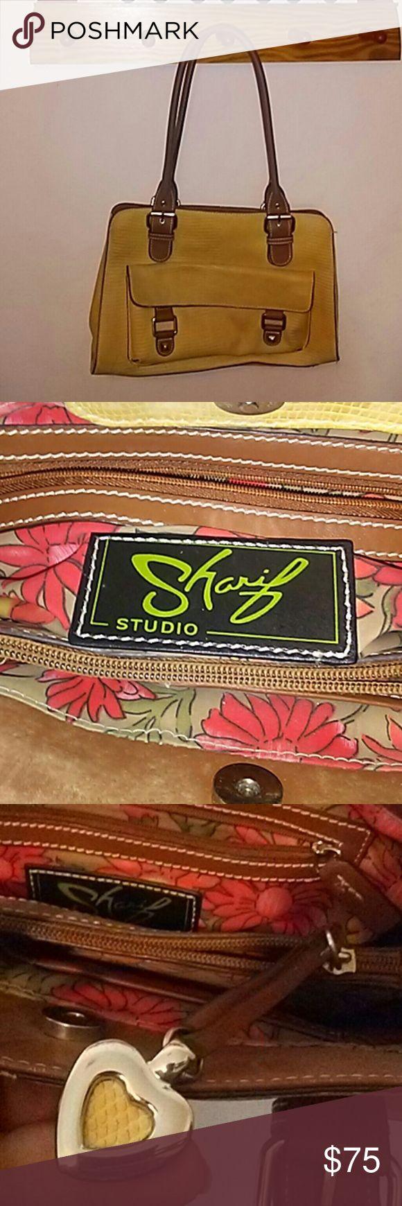 Sharif Studio Satchel Has a nice opulent look. Fair condition. Sharif Bags Satchels