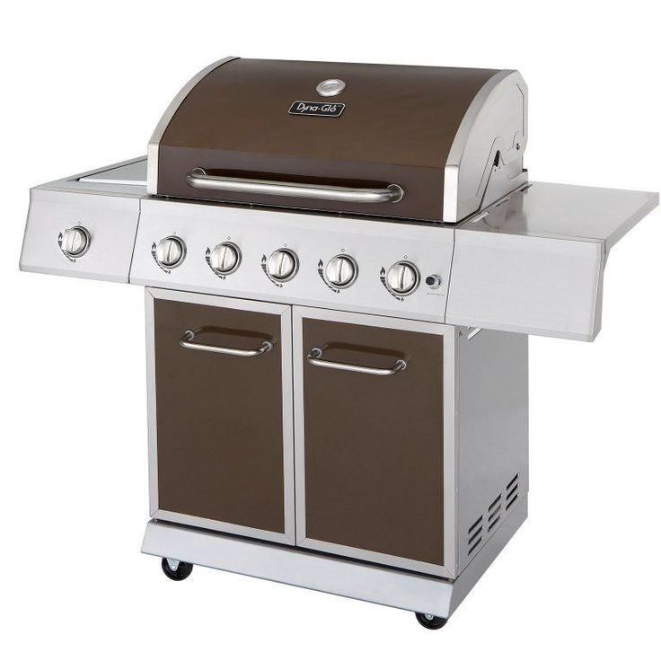 Dyna-Glo DGE530BSP-D 5-Burner Stainless Steel Gas BBQ Grill with Side Burner - DGE530BSP-D