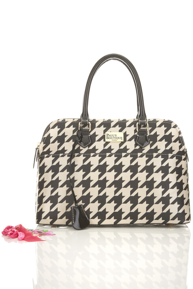 NEW AW12 Black/Cream Dogtooth Print Maisy