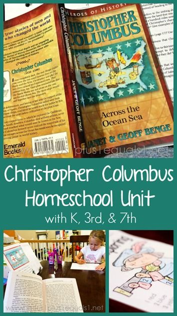 1 Plus 1 Plus 1 Equals 1 has a FREE Christopher Columbus Unit Study. She includes maps, activities, and printables for you.     Here are