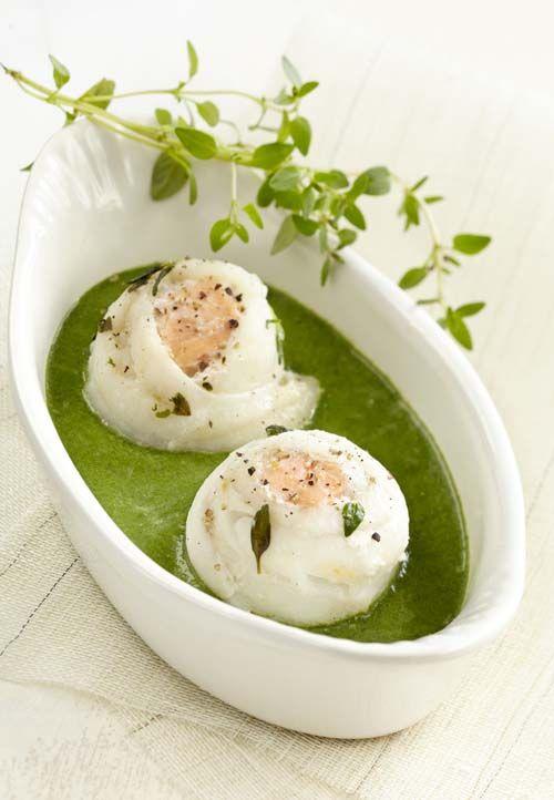 Tongrolletjes met zalm en spinazieroom - Colruyt Culinair !