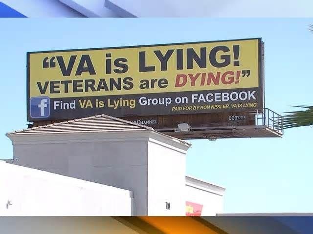Group posts 'VA is lying Veterans are dying' billboard within eyesight of Phoenix VA Hospital