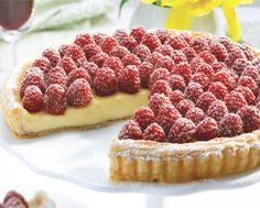 White Chocolate Tart with Raspberries