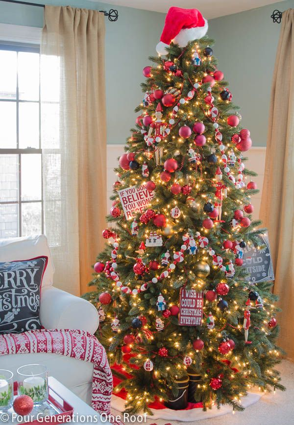 how to decorate a christmas tree using inexpensive ornaments and clustering them together try using - Inexpensive Christmas Trees