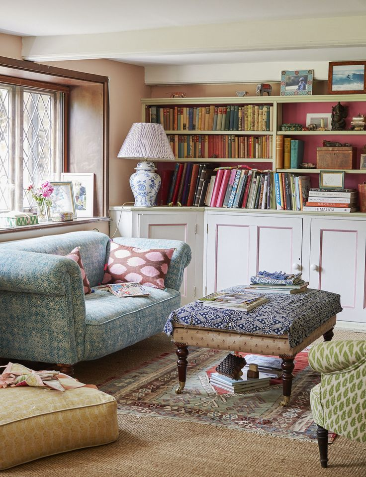 This dreamy Sussex cottage experiments with bold patterns and prints perfectly