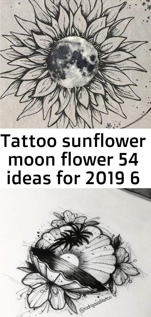 Tattoo Sunflower Moon Flower 54 Ideas For 2019 6 Moon Flower Tattoos Sunflower
