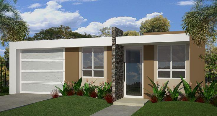 Fachadas de exteriores de casas terreras peque as puerto for Modelos de puertas exteriores para casas