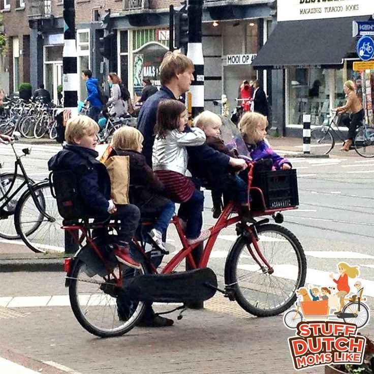 Just another Dutch Dad taking his kids and their friends home from school! :)