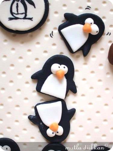 fondant penguins