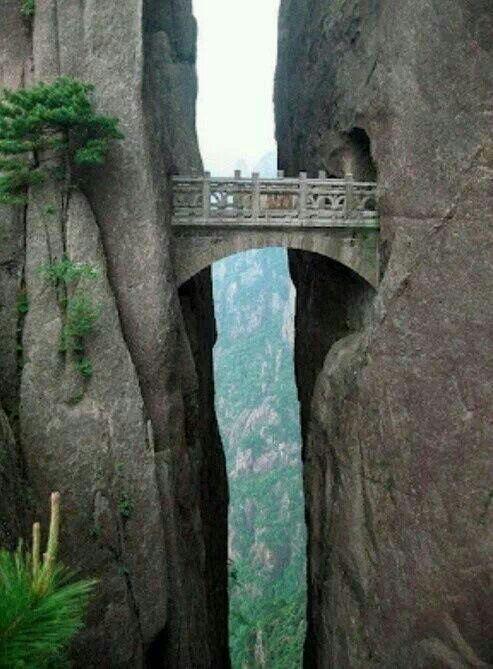 El puente de los inmortales China: quisiera tener las agallas para escalar tan alto