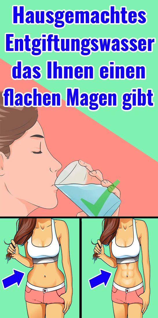 Hausgemachtes Entgiftungswasser, das Ihnen einen flachen Magen gibt