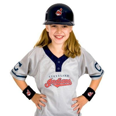 MLB Cleveland Indians Franklin Sports Kids' Uniform Set, Kids Unisex