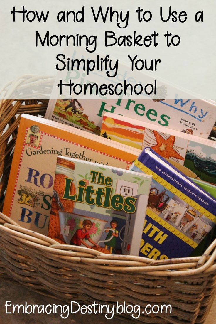 #homeschooling | How and why to use a morning basket to simplify your #homeschool routine! Include all your children and start the day off right with a homeschool morning basket.