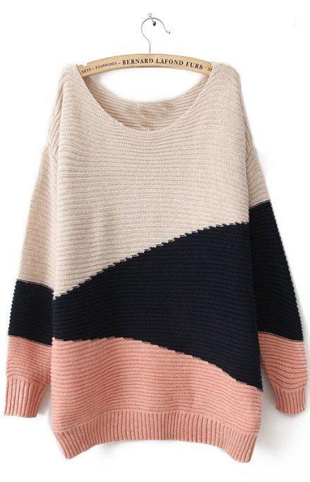 cream / black / blush sweater <3