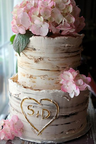 birch engagement cake | Flickr - Photo Sharing!
