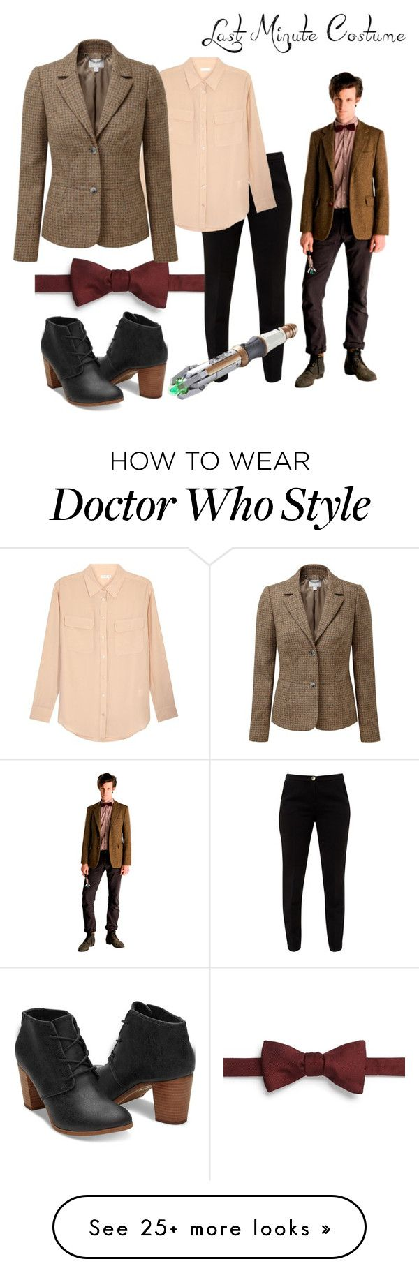 """Last minute Halloween costume - Eleventh Doctor (from Doctor Who)"" by dariaamethyst on Polyvore featuring Carrot & Gibbs, Ted Baker, Equipment and Pure Collection"