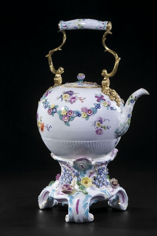 Teekessel Meissen Teapot Porcelain
