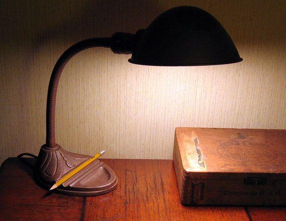 Industrial gooseneck desk lamp by changenhands on etsy 46 00