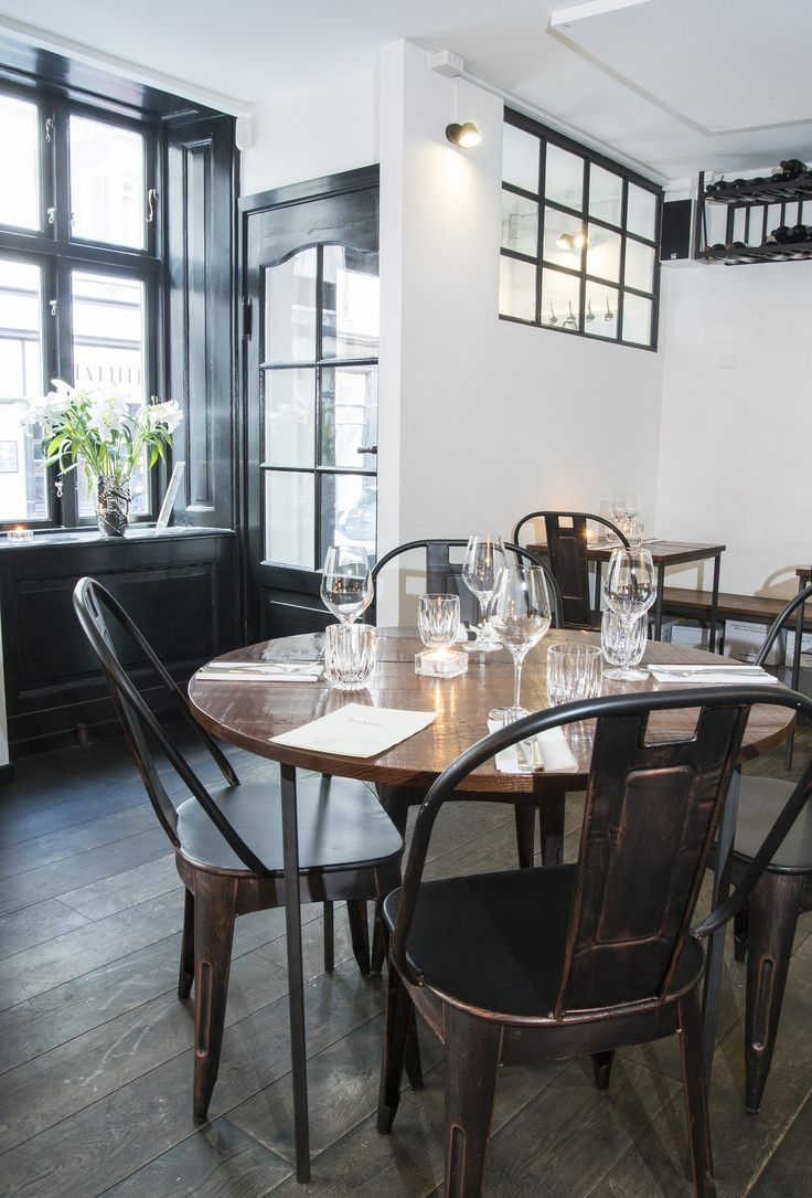 Handcrafted table and chairs from Danish @clarrods. Restaurant furniture. Cafe furniture, Cafe møbler
