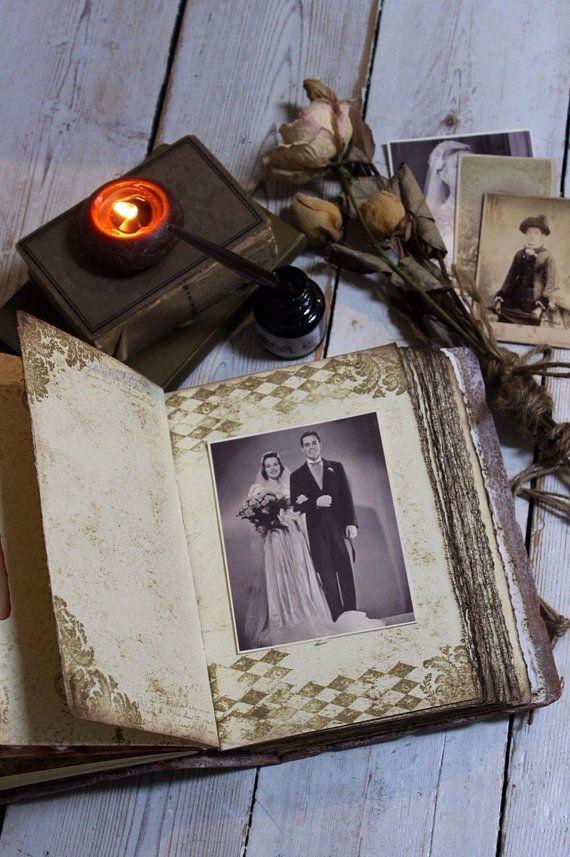 Champagne Rustic Barn Wedding Guest Book Rustic Photo Album