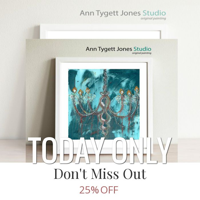 Today Only! 25% OFF this item.  Follow us on Pinterest to be the first to see our exciting Daily Deals. Today's Product: Abstract Teal Chandelier Giclee Print, original painting of teal blue chandelier, modern wall art for contemporary interiors, teal wall art Buy now: https://www.etsy.com/listing/488228903?utm_source=Pinterest&utm_medium=Orangetwig_Marketing&utm_campaign=Daily%20Deal   #etsy #etsyseller #etsyshop #etsylove #etsyfinds #etsygifts #handmade #abstractart #handmadewithlove…