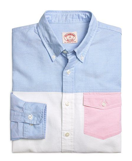Oxford fun shirt with pink pocket brooks brothers usd 39 for Brooks brothers boys shirts