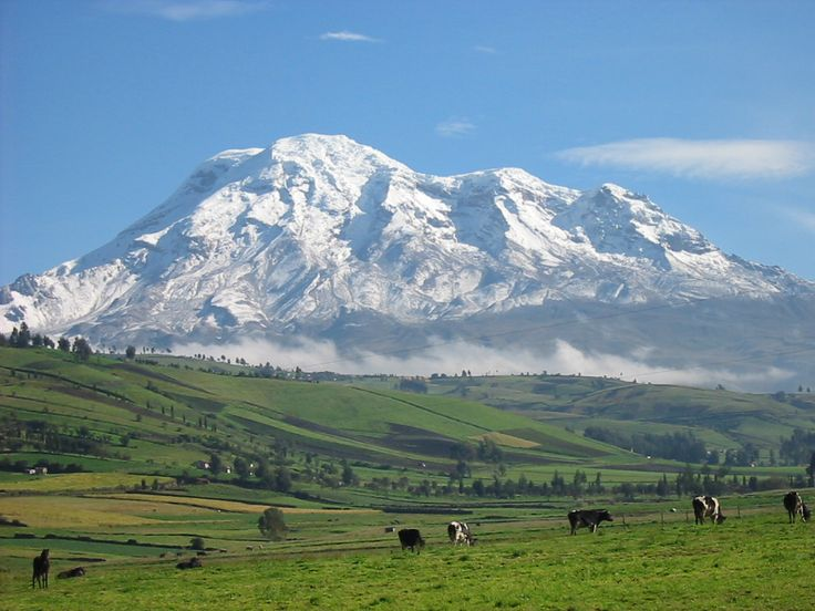 Mt. Chimborazo is a volcano and is the highest point in Ecuador at 20,564 ft (6,268 m) and is the 17th most prominent peak at 13,527 ft (4,123 m).  Because of the earth's equatorial bulge and the peak's proximity to the equator, it's the farthest point from the earth's center.