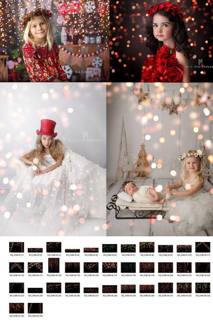 All the Colors of Christmas Bokeh <b>Light</b> Overlays | Photoshop ...