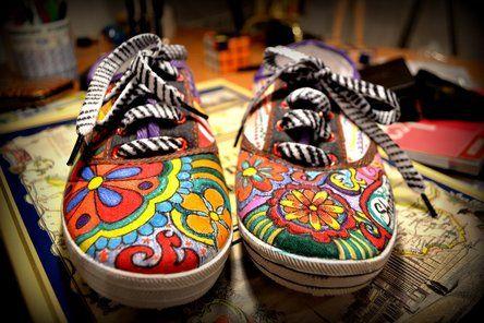 @KatieSheaDesign  ❤♡ ♥ ❥ Sharpie® Gallery   ^_^ First Sharpie Shoes