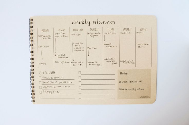Weekly Planner Desk Pad Weekly Planner by littleseedgifts on Etsy