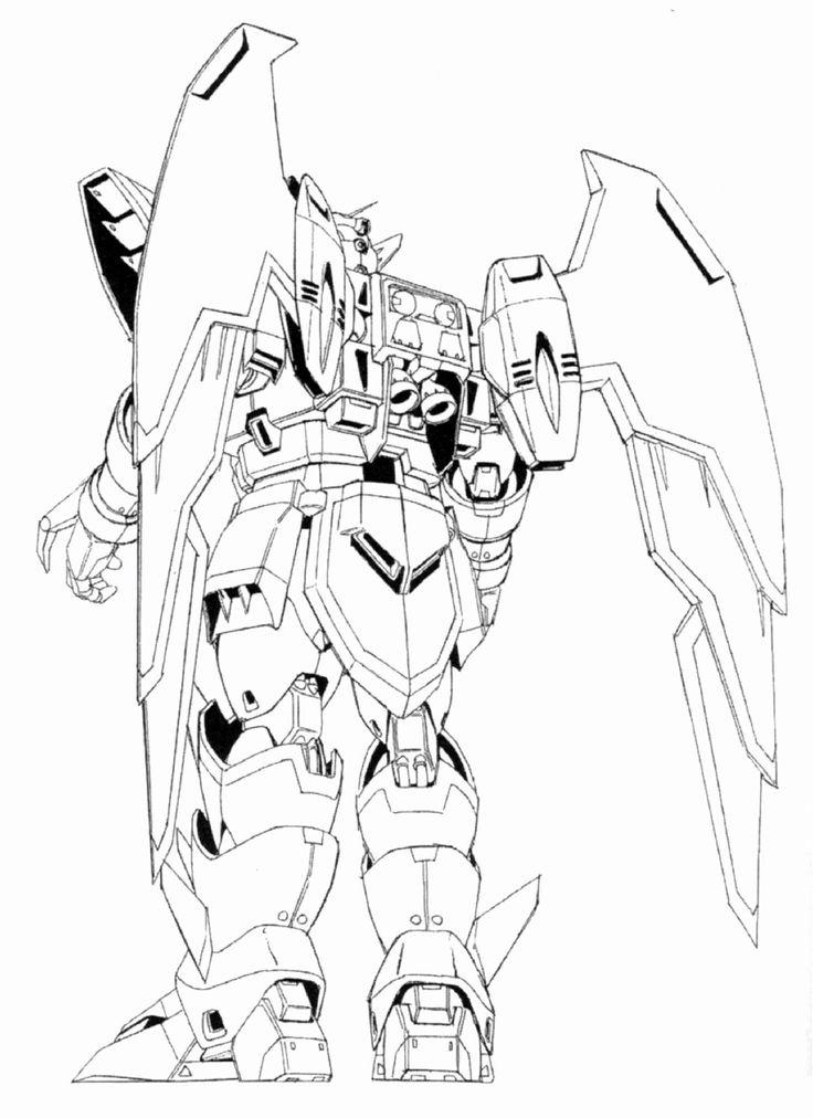 Gundam Wing Coloring Pages Inspirational Image Oz 13ms Gundam Epyon Back View Lineart Blog Colors Coloring Pages Gundam Wing