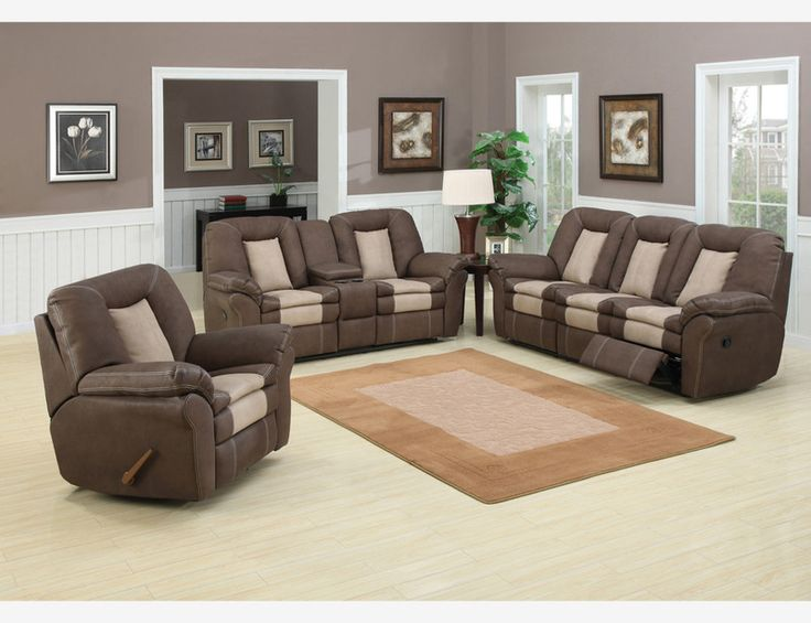 Chocolate Stone Leather Reclining Sofa Couch Loveseat Recliner Console