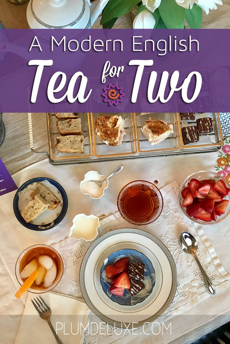 Earl Grey is one of the most popular tea flavors, and the perfect choice for this English tea party for two.