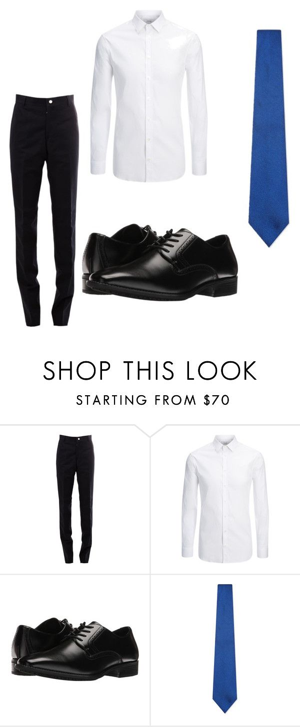"""""""uniforme"""" by jaqueline-carvalho-do-amaral on Polyvore featuring Thom Browne, Joseph, Stacy Adams e Richard James"""
