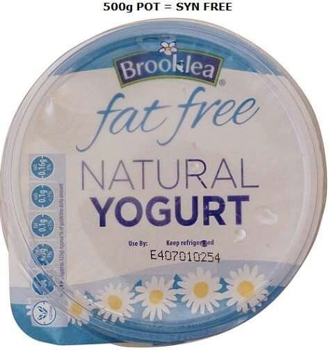 Fat free natural yogurt aldi slimming world pinterest Slimming world syns online