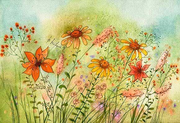 осенние цветы (Виктория Кирдий)