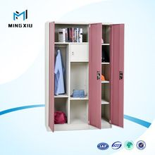 China mingxiu 3 door cheap steel almirah cabinet / steel wardrobe