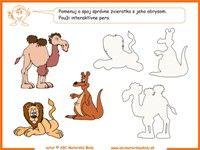 interaktívna tabuľa zoo