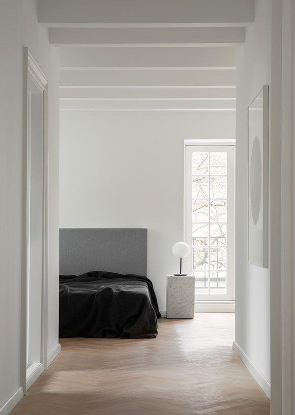 INSPIRATION: a streamlined European bedroom, providing comfort in the minimal and monochrome | est living